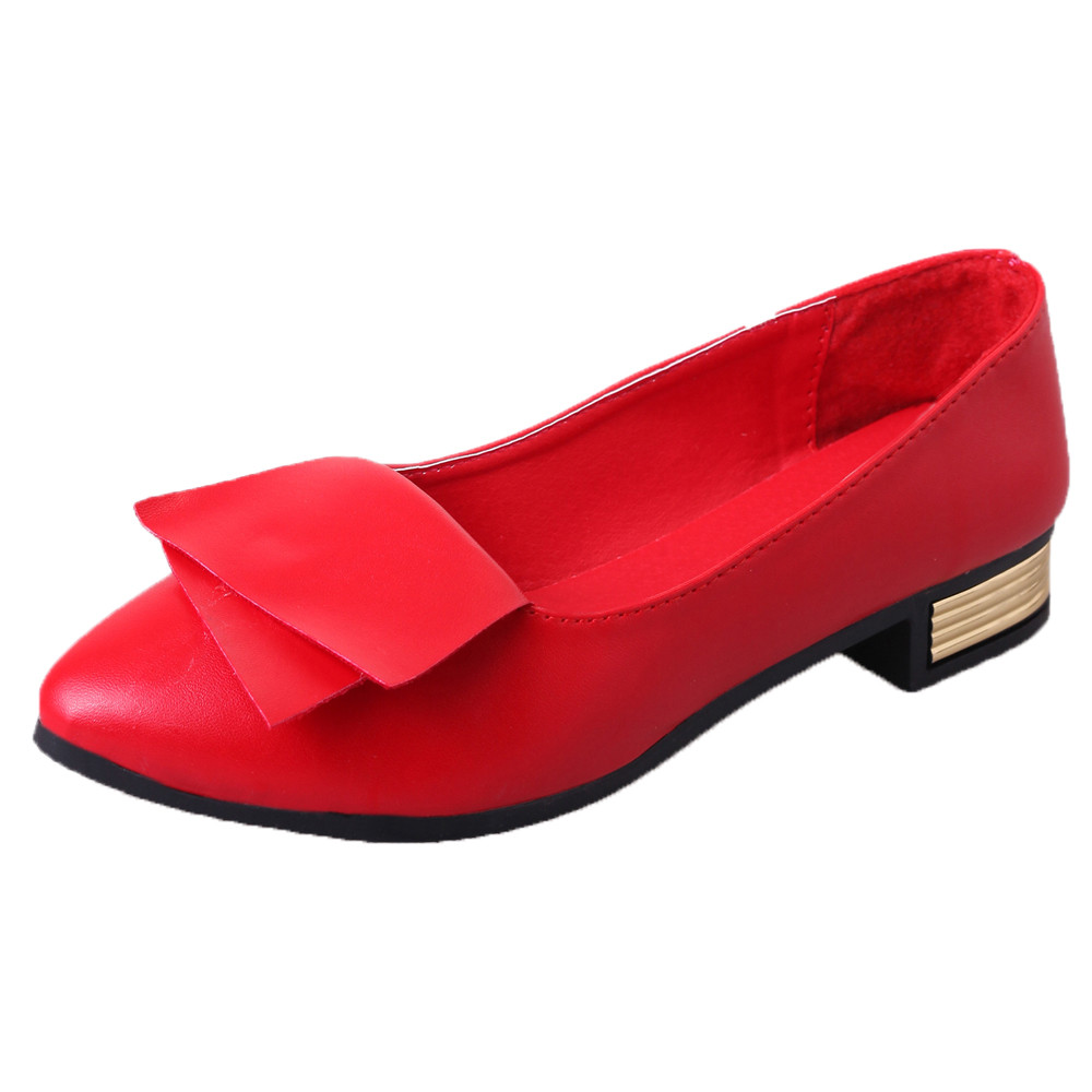 2018 Women Fashion Spring Ladies Pointed Toe Flat Ballet Shallow Shoes Loafers Slip On Casual Shoes for Office Lady odetina 2017 brand fashion women casual flat spring shoes pointed toe ballet flats bowknot slip on loafers ballerinas plus size