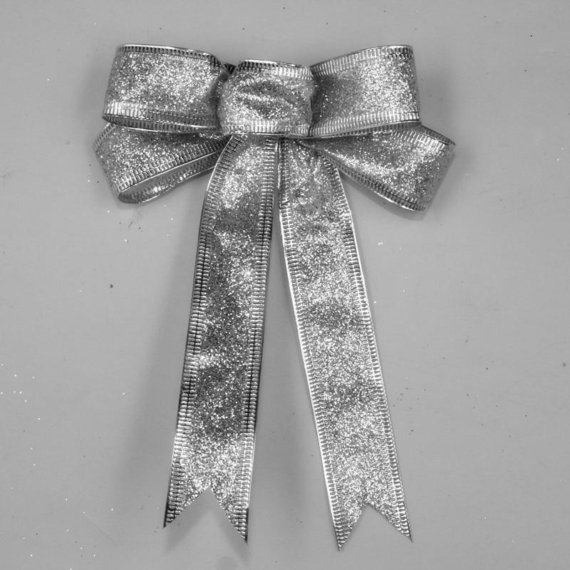 15 cm rdeče srebro zlato peneče bleščice božični lok dekoracija - Prazniki in zabave - Fotografija 4