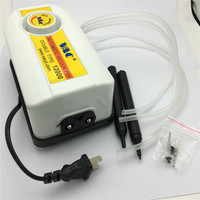 Double Type Air Vacuum Pump QS 12000 Vacuum Suction Pen IC SMD Pick Up Pen Free