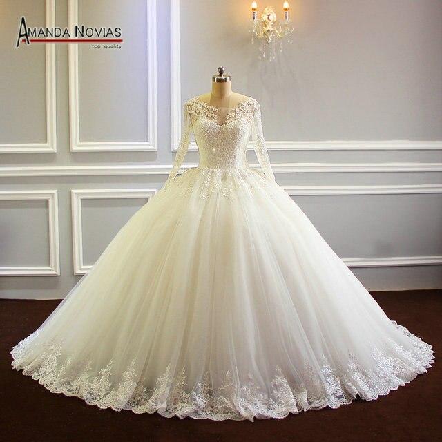 Robe de mariee 2019 Puffy Ballkleid Prinzessin Hochzeit Kleid Neue Modell