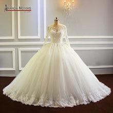 Robe de mariee 2019 inchado vestido de baile vestido de noiva da princesa novo modelo