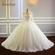 חלוק דה mariee 2019 נפוח כדור שמלת נסיכת חתונת שמלת חדש דגם