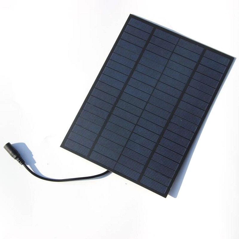 BUHESHUI 5W 18V Polycrystalline Solar Cell Solar Panel Module System For Charging 12V Battery With 55221 DC BUS Free Shipping