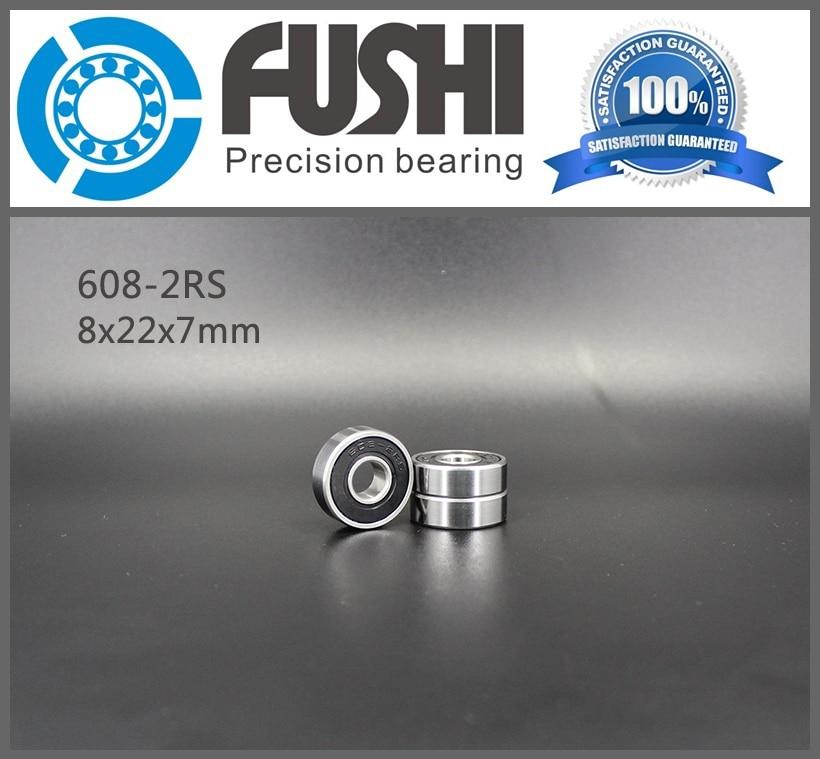 608RS Bearing 8*22*7 mm ( 10 PCS ) ABEC-5 Skateboard 608 2RS Ball Bearings Miniature 608-2RS 608 RS Bearing