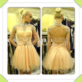 Sexy Vestidos De Fiesta High Neck Crystal Beading Open Back A Line Cocktail Dresses For Women Party DYQ1152