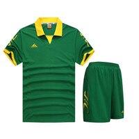 2017 New Boys Men Football Jerseys Clothing Youth Kids Soccer Jersey Set Shorts Shirts Sportswear Teens