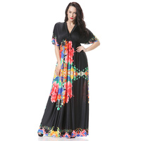 長いマキシ女性ドレス5xl 6xlプラスサイズ夏の女