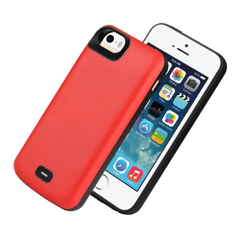 Battery Case 4000 Mah For Iphone 5 External Battery Charger Case Power Bank For iPhone 5 5S SE Battery Case