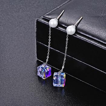 d06017f71e22 Baffin cuadrado colgante collares cristales de Swarovski Rectangular  cultivo Collar para mujeres ...