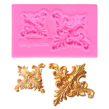Lace Pattern Border Silicon Mold Lollipop Silicone Wedding Cake Stand Decorating Tools Baking Fimo