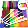 Kid Educational Toy Molding Modeling 32 Colors Oven Bake Polymer Clay Block Set