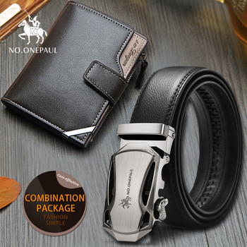 Set/sets Suit Male Genuine Leather Strap Belts For Men Top Quality Belt Multi Interlayer Short Collapsible Wallet Cowhide Hollow
