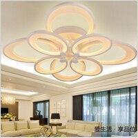 Moderna breve moda romanzo creativo acrilico bianco caldo/bianco 3/8 testine led 57/125/180 W soffitto luce living room bed room lamp1567