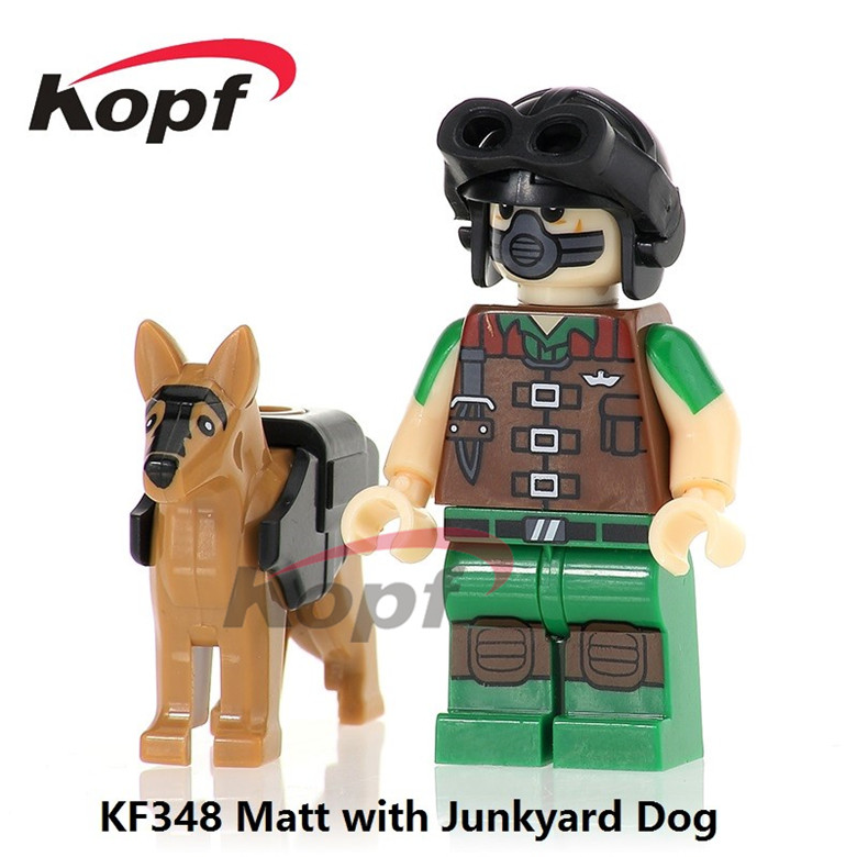 50Pcs KF348 Super Heroes Gi Joe Series Matt With Junkyard Dog Serpentor Firefly Bricks Building Blocks Figures Kids Gift Toys