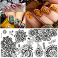 BORN PRETTY 1 Pc Chic Flower Nail Art Stamp Template Image Plate BP-L014 12.5x6.5cm Nail Stamping Plate for DIY Nail Decoration