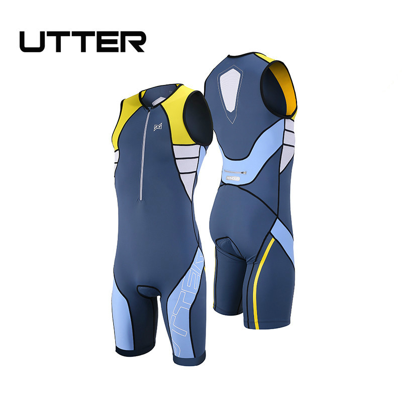 UTTER Armour A1 Yellow and Grey Cycling Jersey Sets Pro Team Men Triathlon Sleeveless Cycling Clothing Bicycle Bike Sportswear все цены