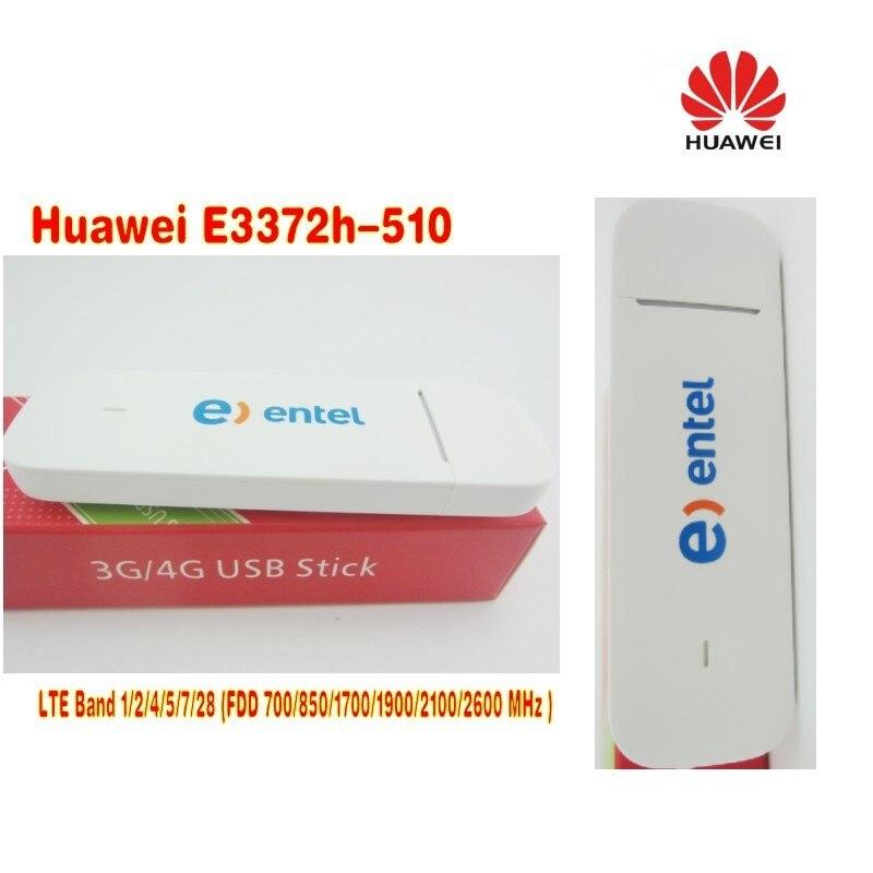Huawei E3372h-510 LTE Band 1/2/4/5/7/28 (FDD700/850/1700/1900/2100/2600MHz USB Stick Modem plus 2pcs antenna