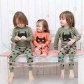 2016 roupa primavera crianças define BATMAN máscara padrão dos desenhos animados tração grosso sobre calças camiseta BABY GIRL roupa dos miúdos pijama define