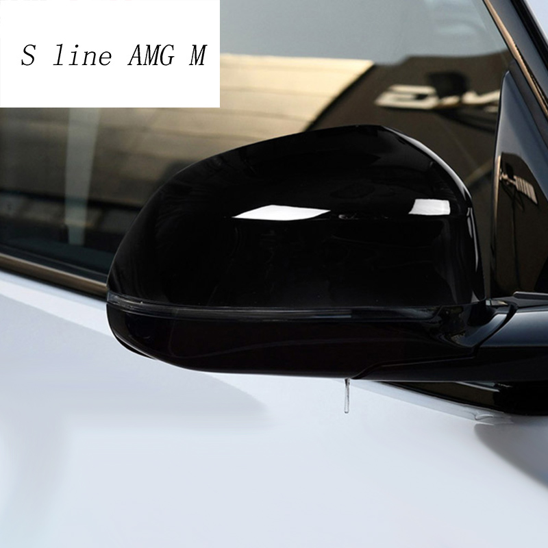 Car Styling Rearview Mirror Decoration Shell Stickers protection panel Covers Trim For <font><b>BMW</b></font> X3 G01 <font><b>X4</b></font> 2018 <font><b>2019</b></font> Auto <font><b>Accessories</b></font> image