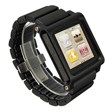 Aluminium Watch Straps Multi Touch Replacement For iPod Nano 6th New Color: Black