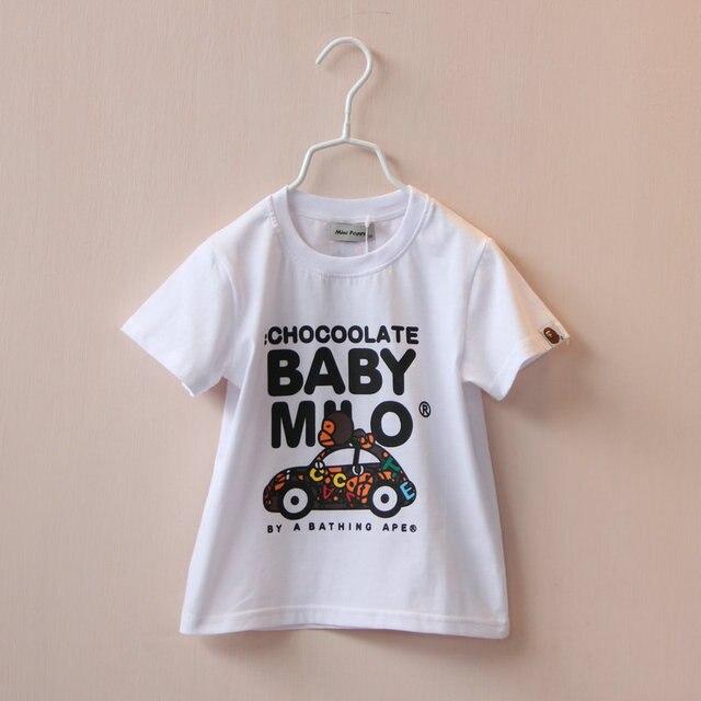 Kids T-shirt short sleeve Car printed Tees for boys girls minions gravata infantil Children's Top Cotton clothes To 3-8 T