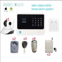 WIFI  GSM Alarm System Residence Alarm Safety Wi-fi RFID keypad +out of doors PIR+720P IP digicam