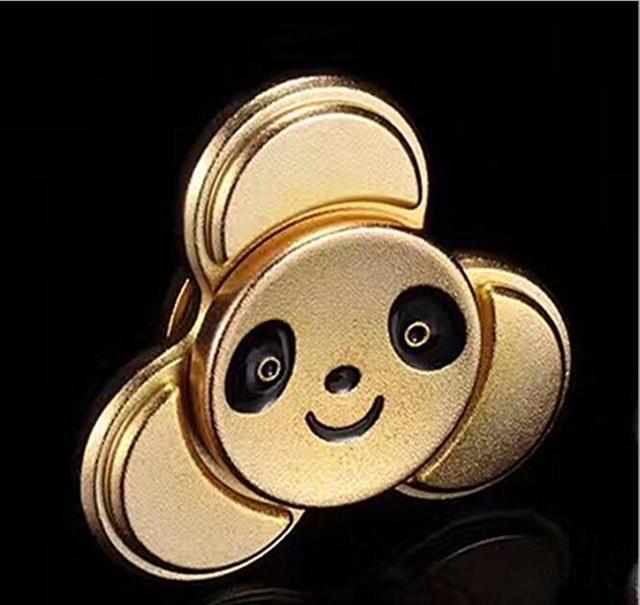 50 шт. DHL панда EDC игрушки треугольной ручной Spinner orqbar Металл Профессиональный Непоседа счетчик аутизма и СДВГ ручной spinner