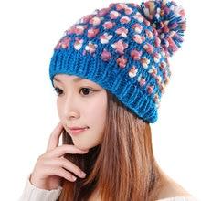 Cute Women Winter Leisure Comfortable Doug Knitting Hat Fashion Autumn Lady Wool Handmade Beanie Cap