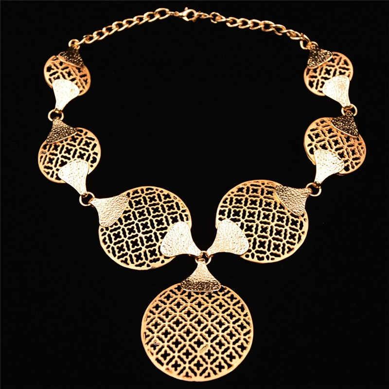 סטי תכשיטי חרוזים אפריקאים אביזרי חתונת קריסטל כלה תכשיטי סט טבעת עגילי צמיד שרשרת לנשים מהודרת