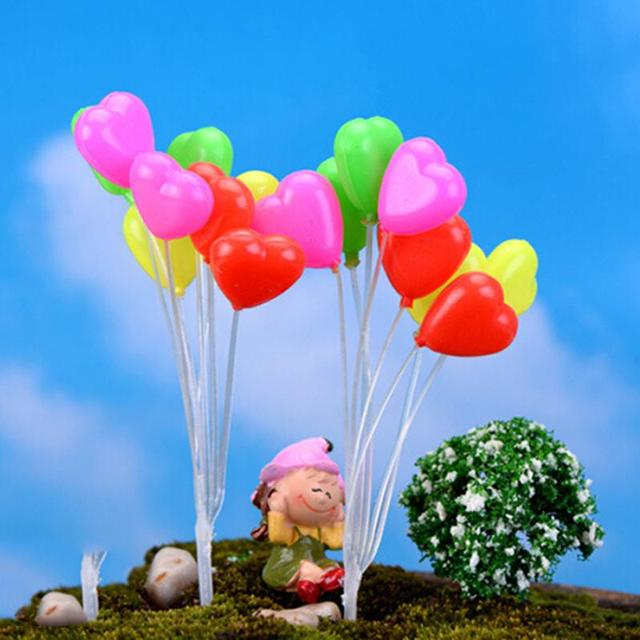 Cute Mini Dolls Home Garden Simulation Colorful Balloons Micro Landscape Garden Decorations Christmas Gift Miniatures 2