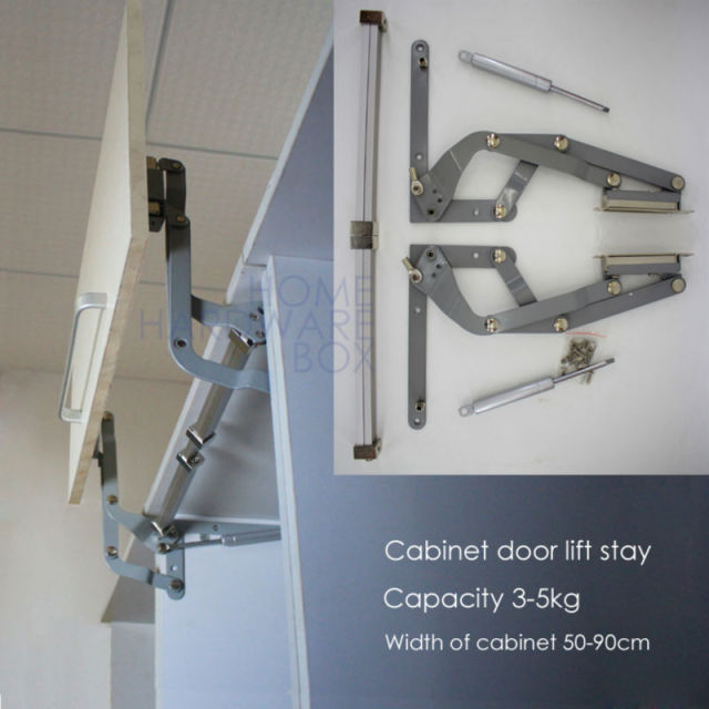 cabinet door vertical swing lift up stay pneumatic arm kitchen mechanism hinges & cabinet door vertical swing lift up stay pneumatic arm kitchen ...