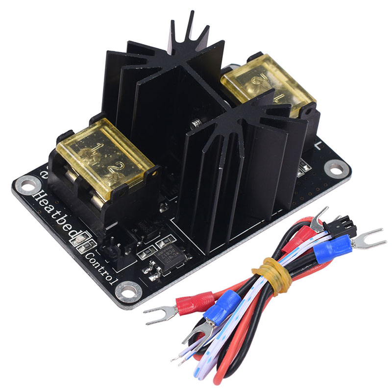Heat Bed Power Module Hot Bed Power Expansion Board High Current Load Module Mos Tube with Cables for 3D printer part цены онлайн