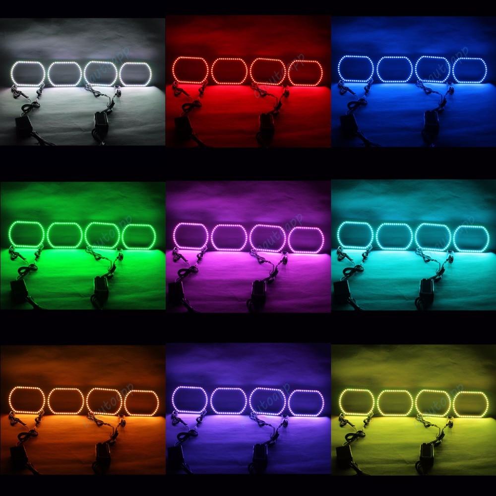 Angel Eyes RGB LED luč DRL Brezžični Bluetooth krmilnik žarometi - Avtomobilske luči - Fotografija 2