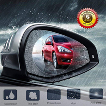 лучшая цена 2Pcs Car Anti Water Mist Film Anti Fog Nano Coating Rainproof Rearview Mirror Window Protective Film