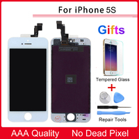 For Apple Iphone 5S LCD Display Touch Screen Digitizer Replacement Tempered Glass Protective Film Repair Tools