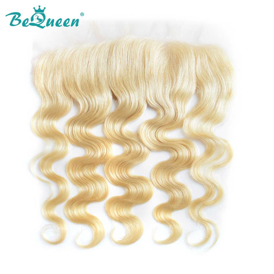 Pelo BeQueen pelo peruano de la onda del cuerpo, extensión del cabello humano 100% virgen, 3 paquetes con Frontal 13x4, envío gratis
