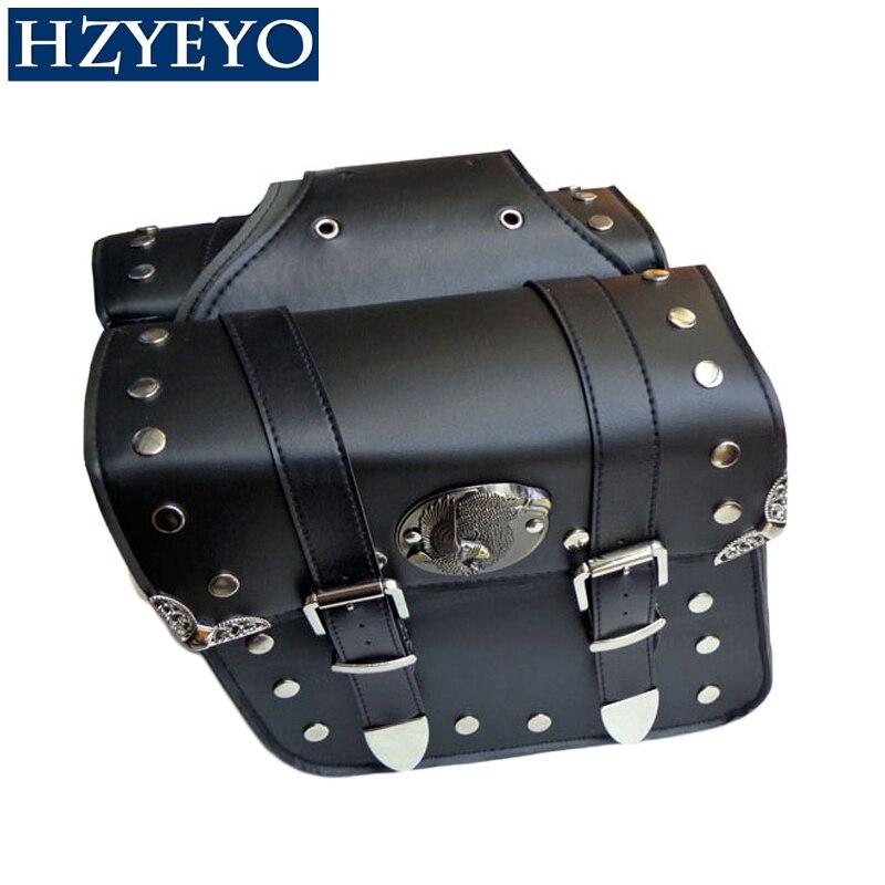 Prix pour HZYEYO NOUVEAU 2 x universal Moto Sacoches Sacoches Gauche et Droite Poche pour Harley Chopper D808
