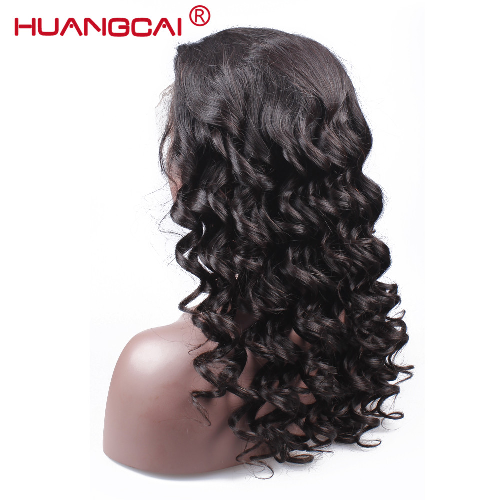 Huangcai Lace Front Wigs For Black Women Pre Plucked 150% Density Loose Wave Brazilian F ...