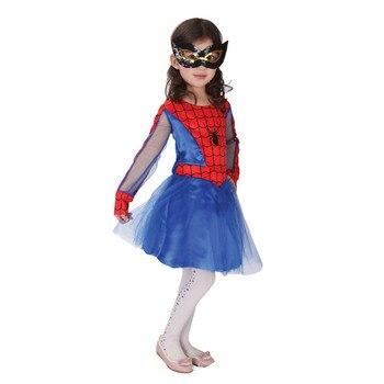 Purim Bambini Spider Ragazze Costumi Cosplay Spiderman Costume per I Bambini Del Partito di Fantasia
