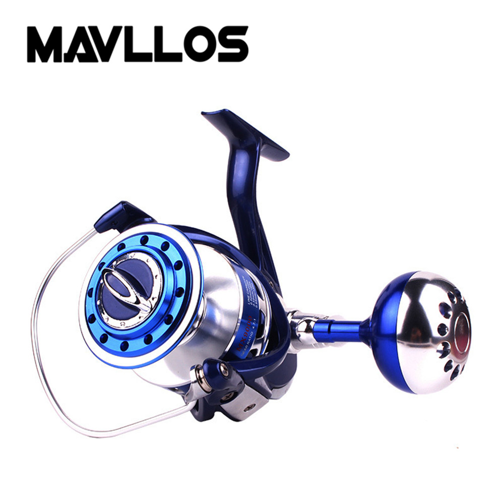 Mavllos Max Drag 25-35kg Slow Jigging Reel Saltwater Fishing Spinning Reel 4000-9000 13BB Sea Waterproof Boat Fishing Reels saltwater reel jigging 15w 60lbs balanced drag offshore inshore sea game fishing silky smooth super light gomexus