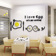 Egg 3d wall sticker Refrigerator surface decoration Restaurant kitchen background Acrylic stickers Living room