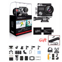 AKASO Brave 4 4K 20MP Wifi Action Camera Ultra HD EIS 30m Underwater Waterproof Remote Sports Camcorder Helmet Accessories Gift