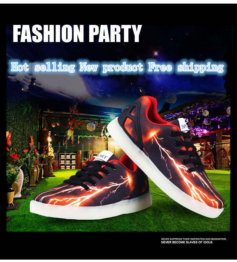 ФОТО Spring 2017 new fashion led shoes for children children luminous shoes Boys and girls light up kids sneakers male running shoes