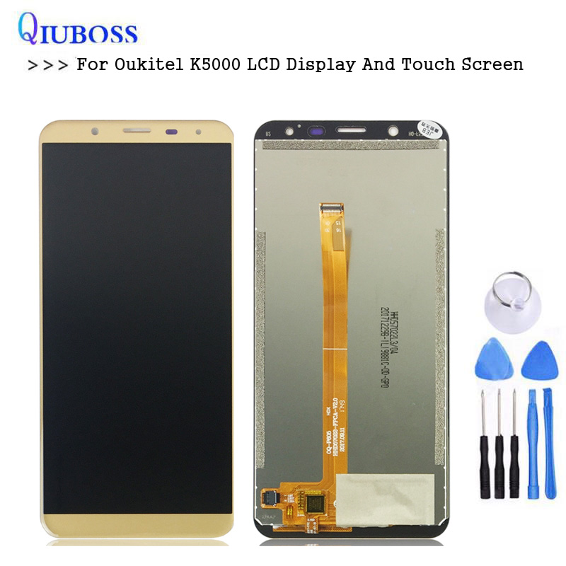 For <font><b>Oukitel</b></font> <font><b>K5000</b></font> LCD <font><b>Display</b></font> And Touch Screen Assembly Repair Parts For <font><b>K5000</b></font> lcd Mobile Phone with free tools image