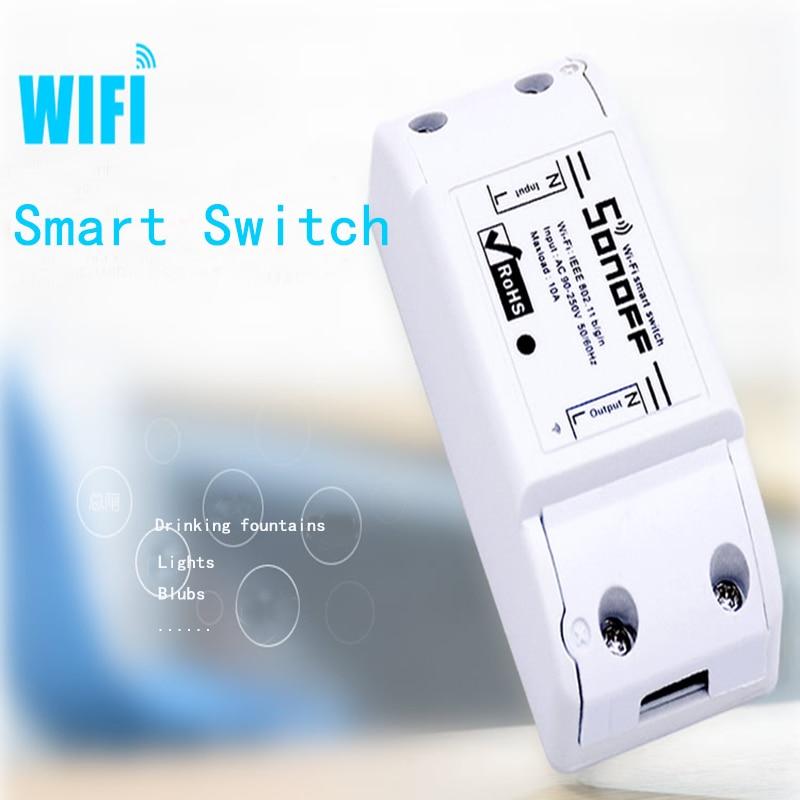 2/3/5/6/8/10PCS Sonoff Basic Smart Home Wifi Switch Wireless Remote Control Light Timer Switch DIY Modules 10A/2200W via Ewelink 4