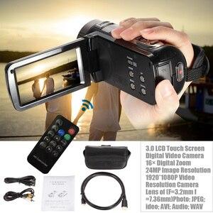 """Image 3 - Caméra vidéo numérique caméscope 3.0 """"LCD écran tactile DV 24MP 1080P Full HD HDMI AV caméra numérique télécommandée de nuit"""