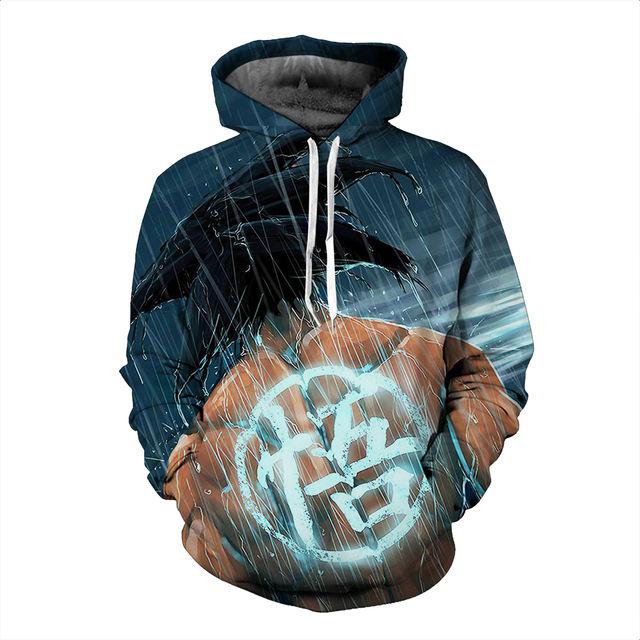 Dragon Ball Z 3d Sportswear Hooded