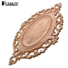 RUNBAZEF Wood Applique Circular Plate Door Heart Flower Cabinet Decorative Ornaments Figurines Miniatures Home Decor Figurine
