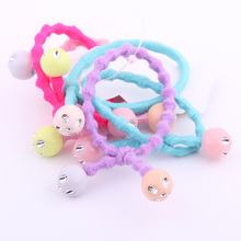 2019 Newest Summer Hairdress For Girls Cute Multicolor Crystal Charms Beads Elastic Hair Bands Expandex Cotton Knots Rubber Band