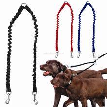 Correa elástica doble para perro, acoplador para mascotas, cables para caminar para 2 perros gemelos, divisor de correas, 3 colores disponibles